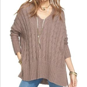 Free People Easy Cable Pullover